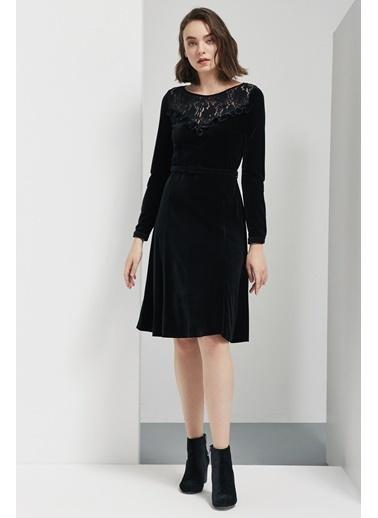 Perspective Elbise Siyah